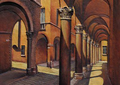 Bassorilievo raffigurante Via Castiglione angolo Via de' Poeti
