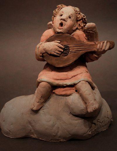 Angioletto cantore che suona il liuto