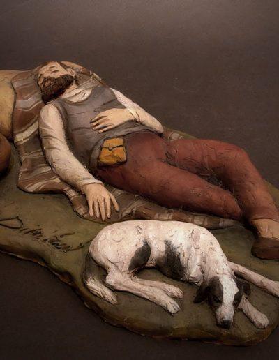 Dormiente con cane