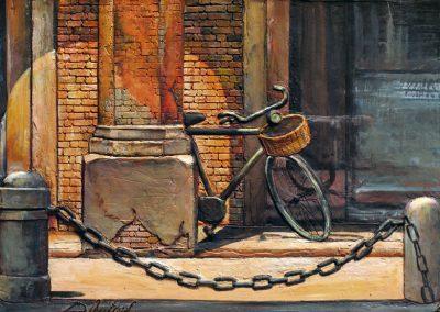 Bicicletta in Piazza della Mercanzia