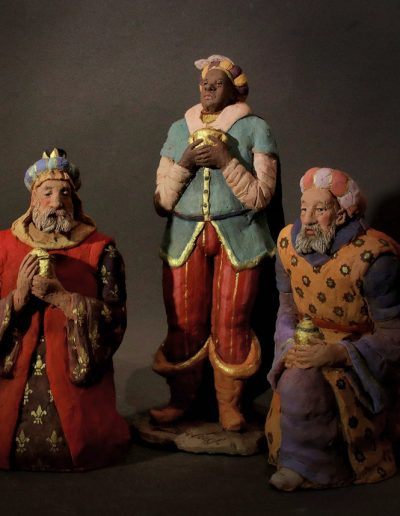Re magi con Baldassarre in piedi