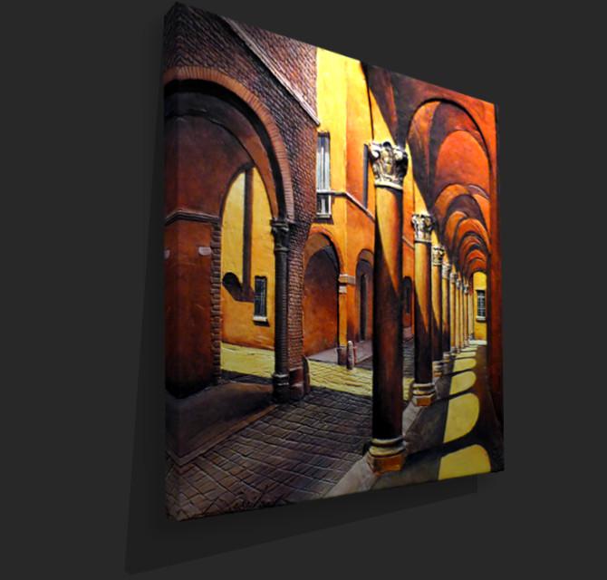Immagine prospettica di tela
