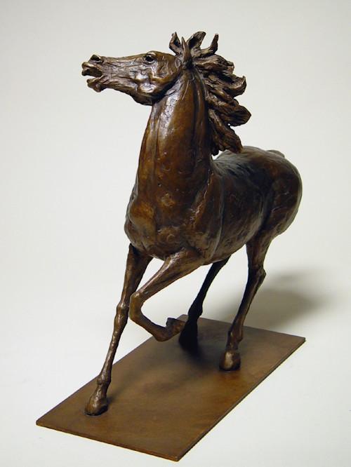 Bronzo a sfumatura naturale di cavallo recalcitrante