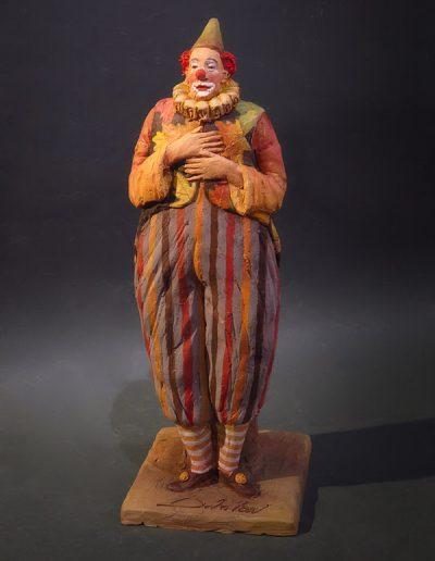 Un clown vestito d'autunno