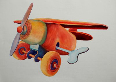Giocattoli e ricordi: l'aeroplanino a molla