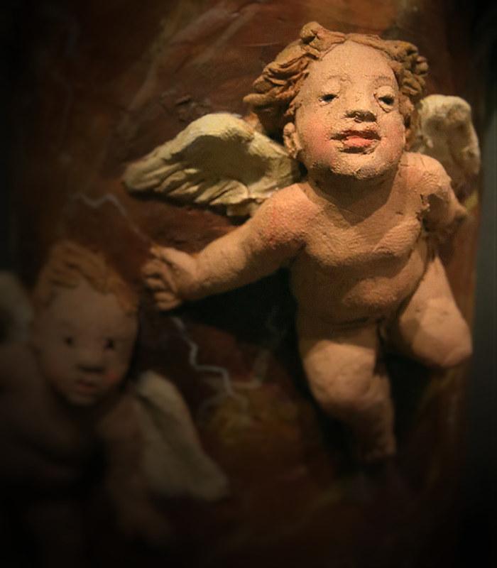 Presepe con cherubini: cherubino