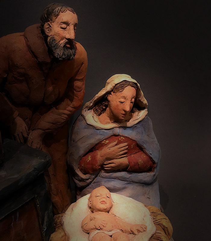 Presepe con cherubini: Sacra Famiglia