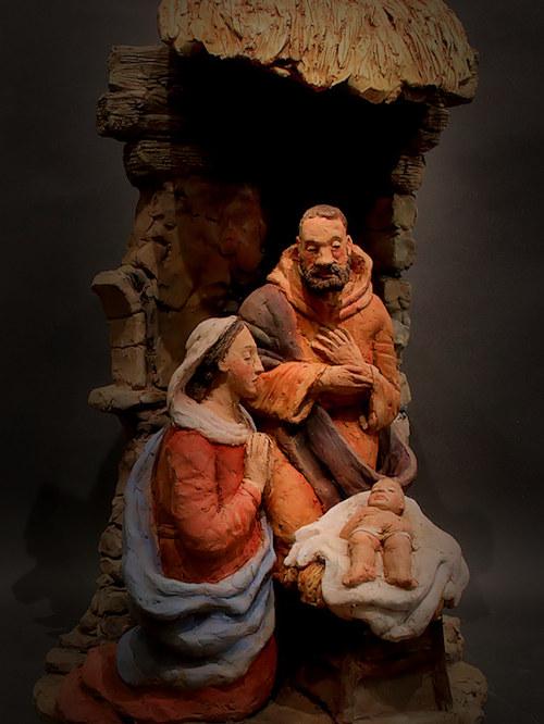 Presepe con Maria in preghiera