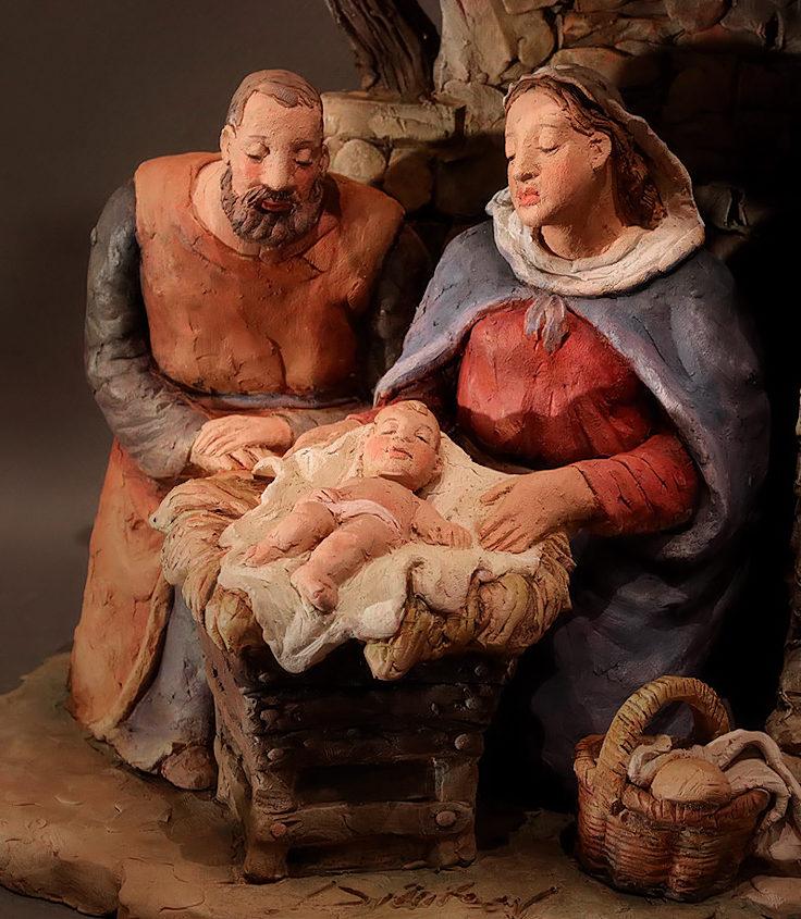 Presepe con la Famiglia che riposa: la Sacra Famiglia