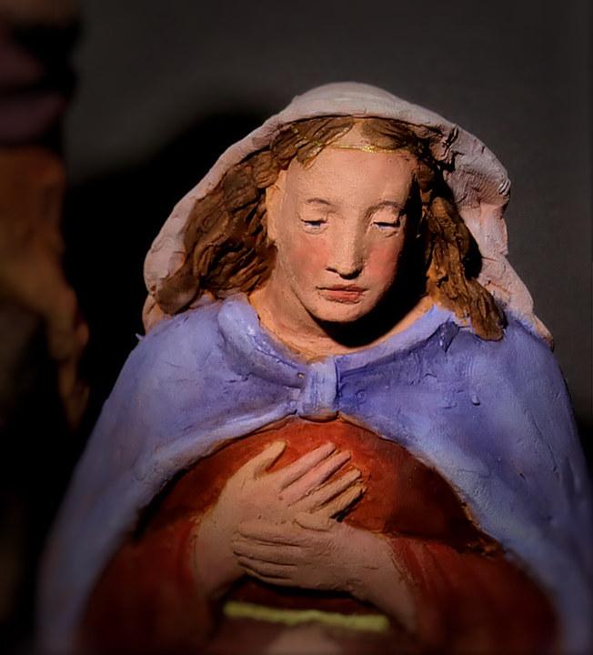 Presepe con Angelo: Maria