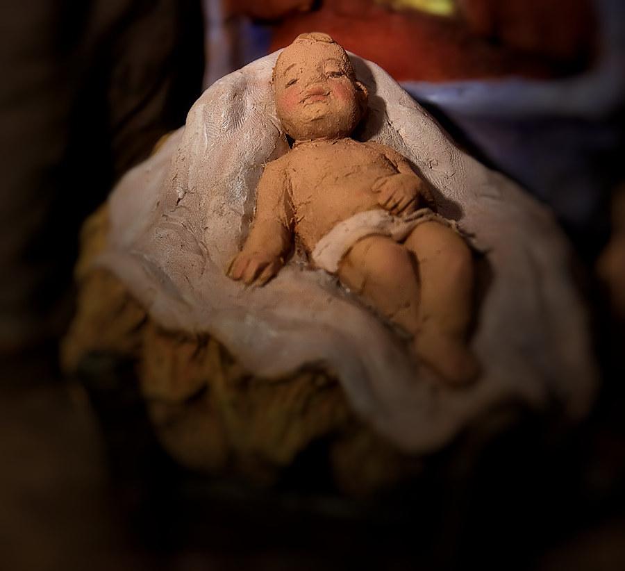 Presepe con Angelo: Gesù Bambino